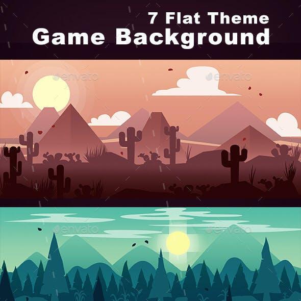 Game Background Flat Theme
