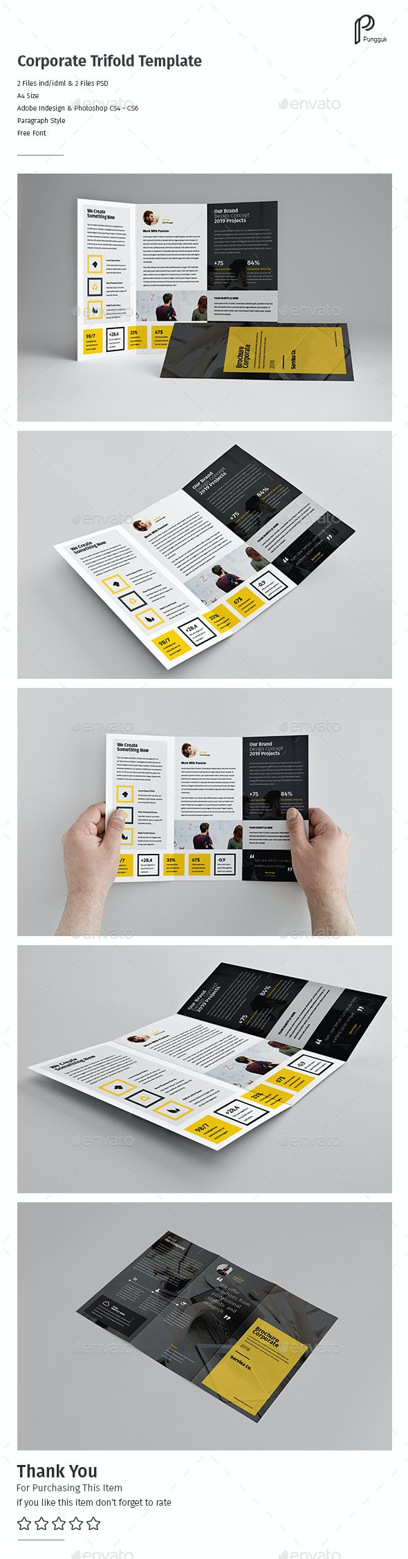 Business Trifold Vol.12 - Corporate Brochures