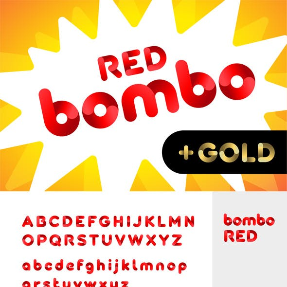 Bombo color font: Red and Gold