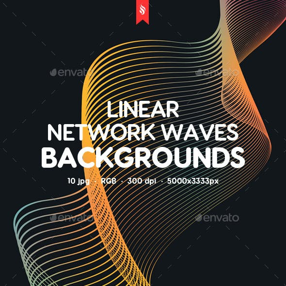 Abstract Linear Network Waves Backgrounds