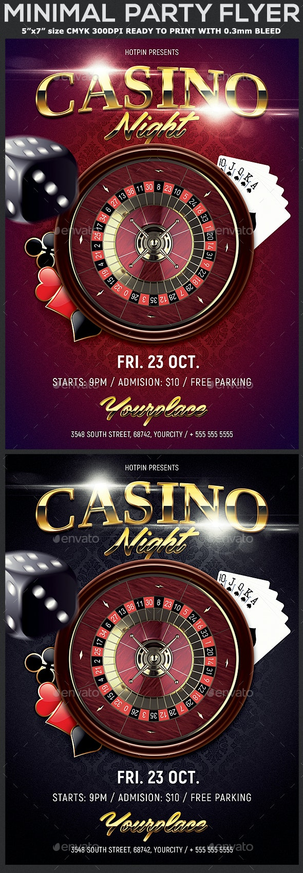 Casino Night Flyer Template - Events Flyers