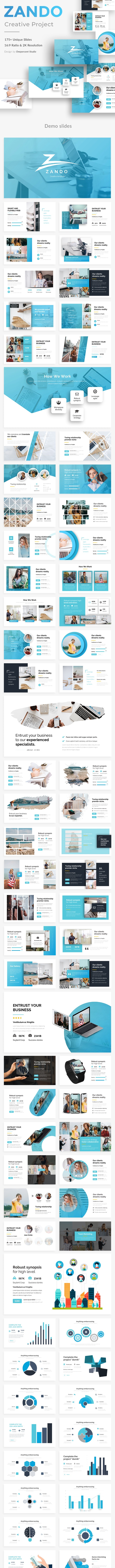 Zando Creative Google Slide Template - Google Slides Presentation Templates