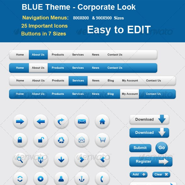BLUE Theme - Corporate Style