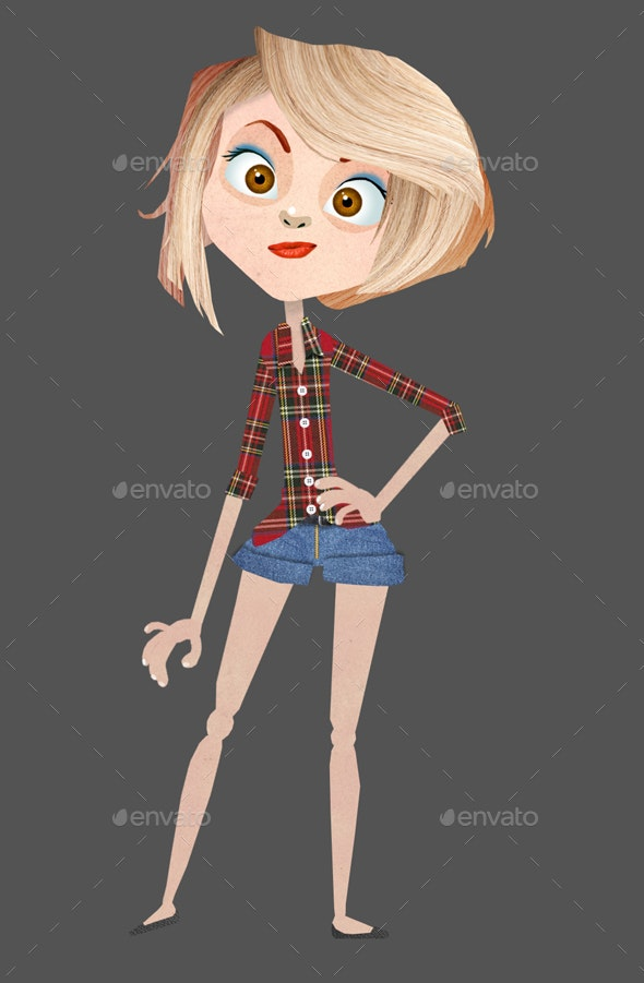 Blondie Girl - Characters Illustrations