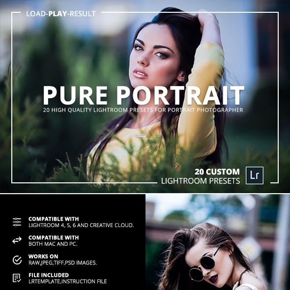 20 Pure Portrait Lightroom Presets