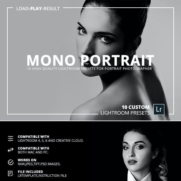 Mono Portrait Lightroom Presets