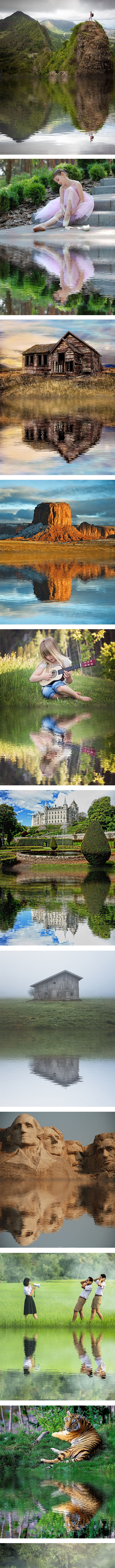 Water Reflection Photoshop Action - Photo Effects Actions