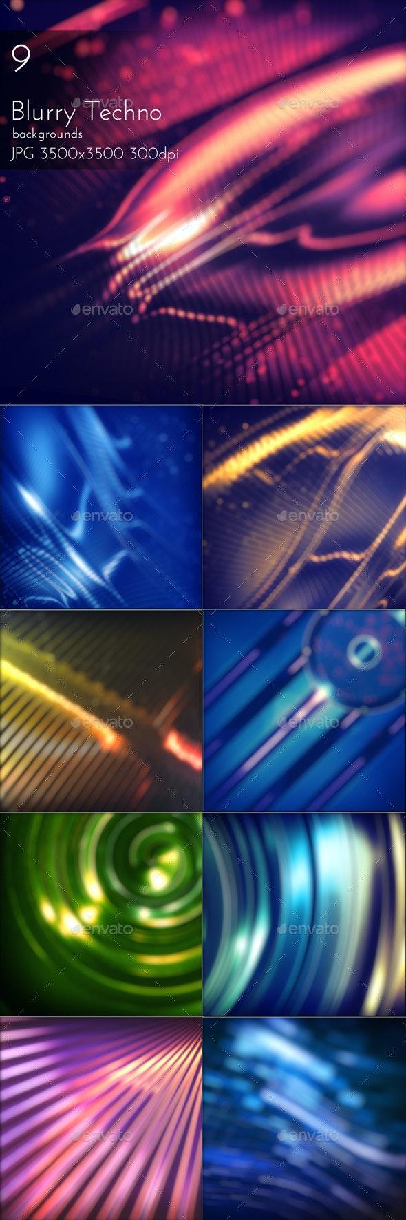 Blurred Techno Backgrounds - Tech / Futuristic Backgrounds