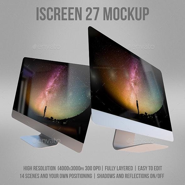 "iScreen 27"" Mockup - Monitors Displays"