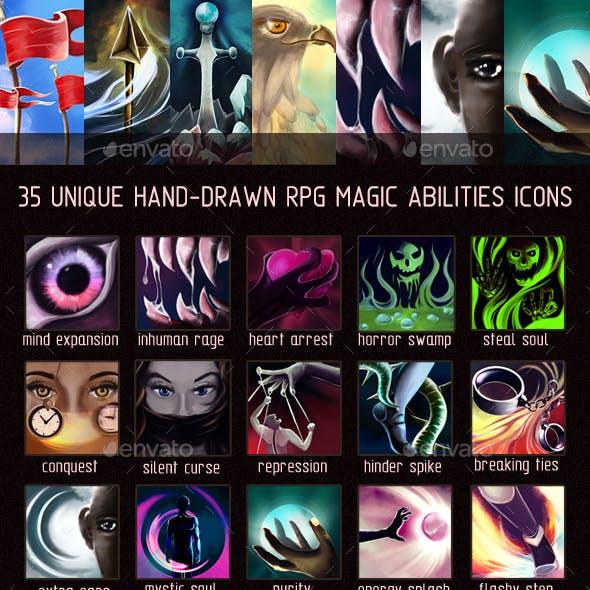 35 Magic Abilities Icons