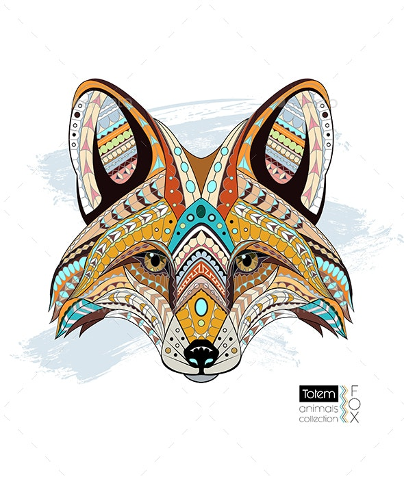 Patterned Fox - Animals Characters