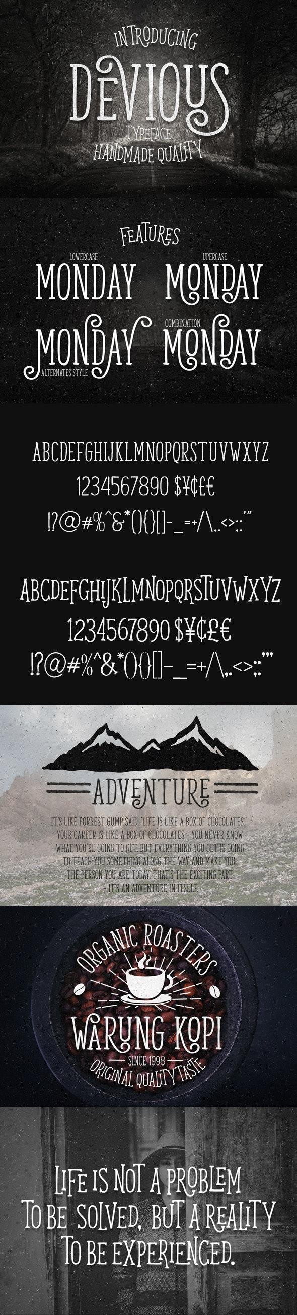 Devious Typeface - Decorative Fonts