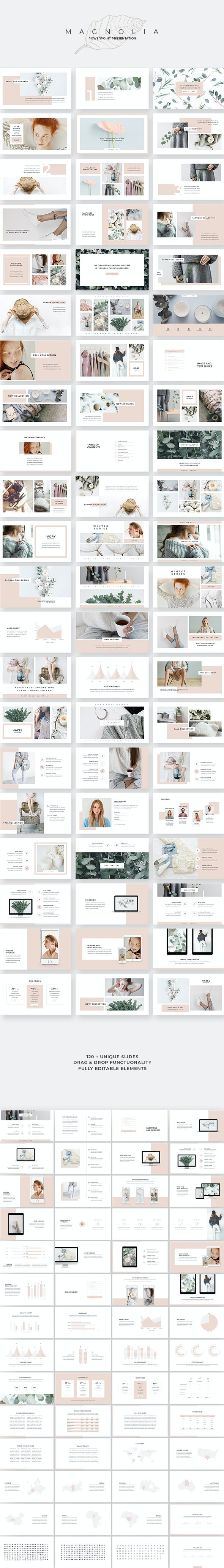 Magnolia PowerPoint Template - Creative PowerPoint Templates