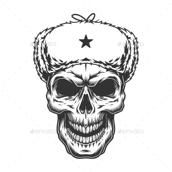 Skull in the Ushanka Hat - Miscellaneous Vectors