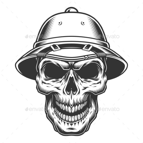 Skull in the Safari Hat - Man-made Objects Objects