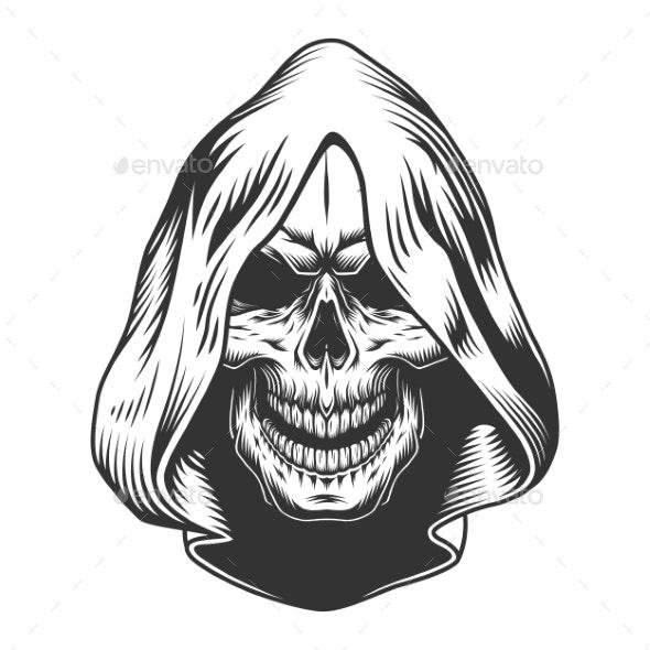 Skull in the Hood - Miscellaneous Vectors