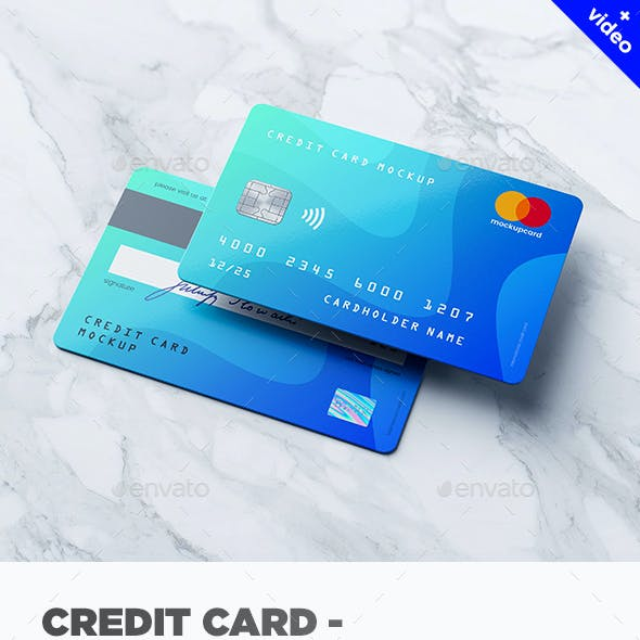 Credit Card / Membership Card MockUp