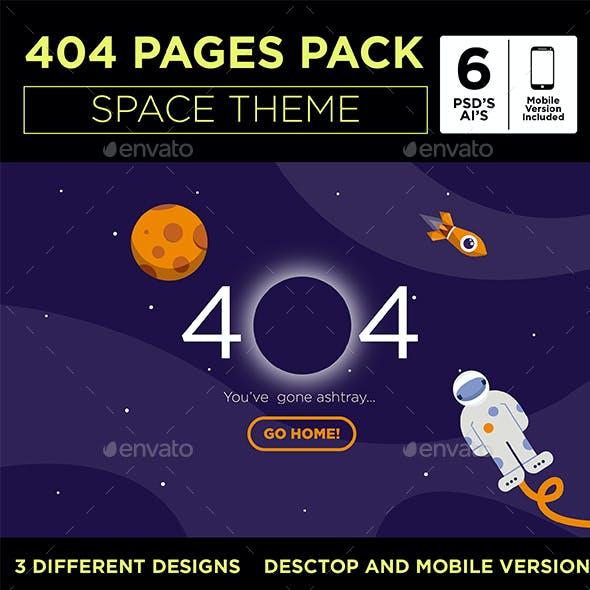 Space Theme  - 404 Error Templates
