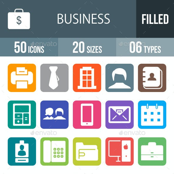 Business Glyph Inverted Icons