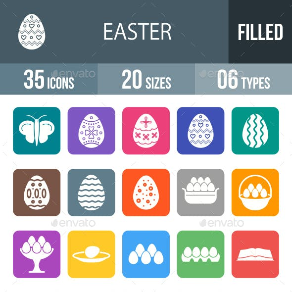 Easter Glyph Inverted Icons