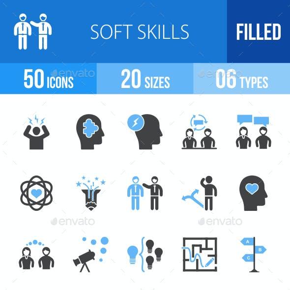 Soft Skills Blue & Black Icons