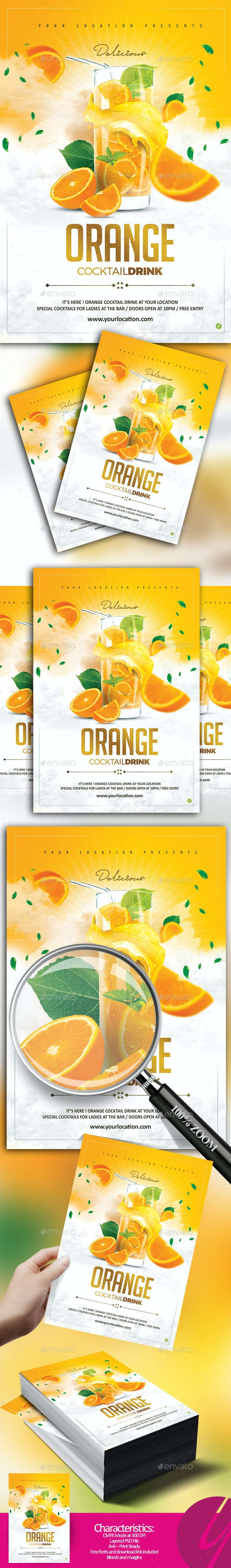 Orange Cocktail Drink - Clubs & Parties Events