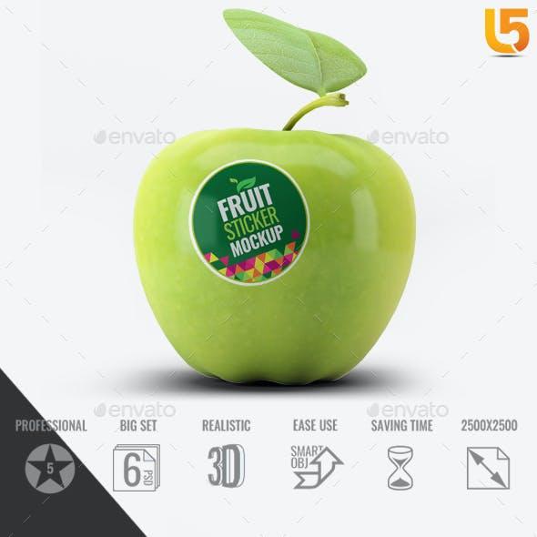 Fruit Sticker Mock-Up