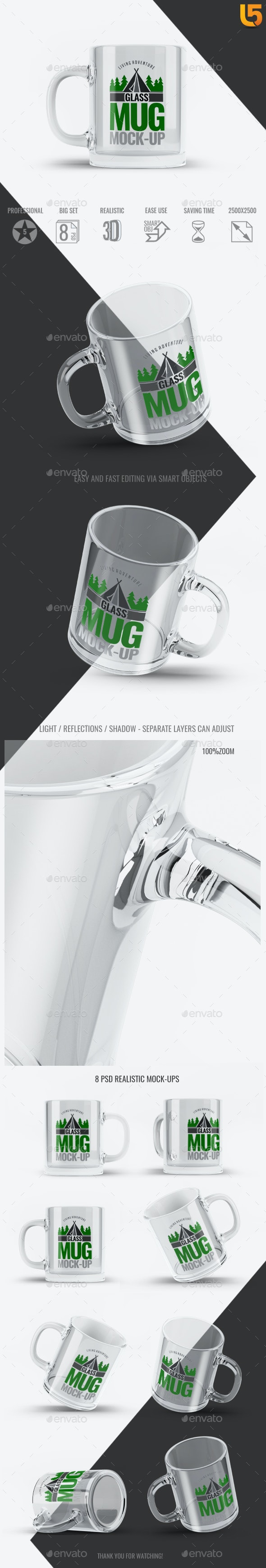 Glass Mug Mock-Up - Food and Drink Packaging