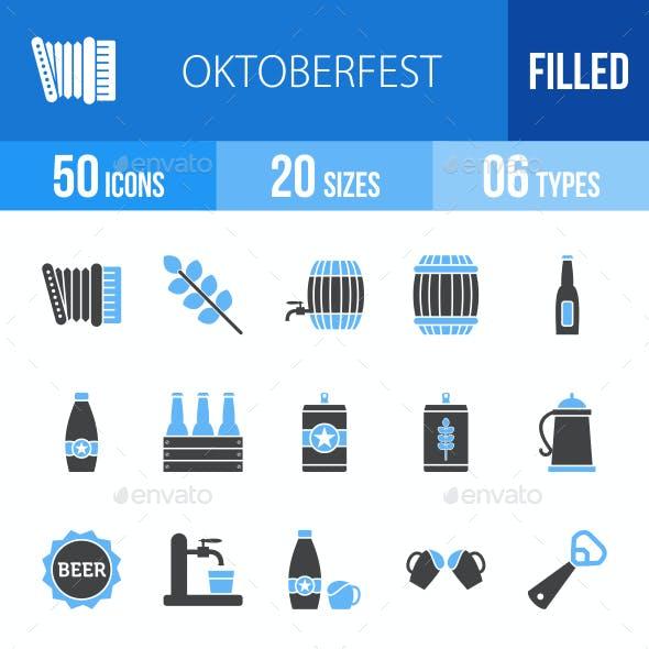 Oktoberfest Blue & Black Icons