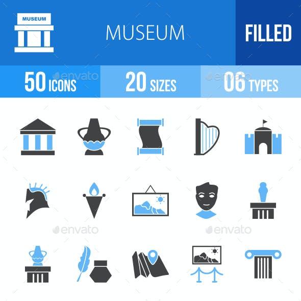 Museum Blue & Black Icons