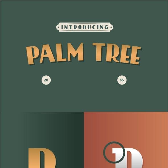Palm Tree Retro Font