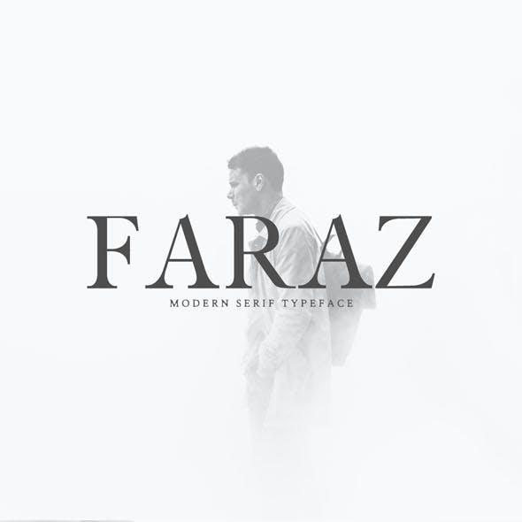 Faraz Modern Serif Typeface