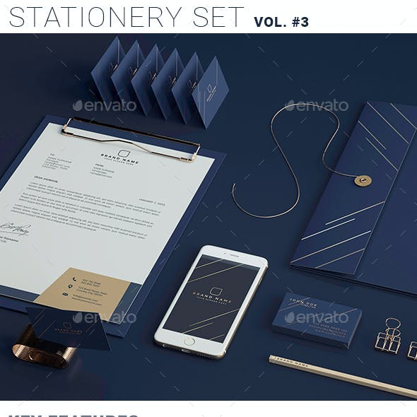 Stationary Branding Mockup vol.3