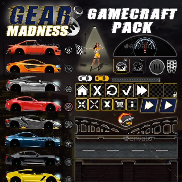 Gear Madness - Game Assets