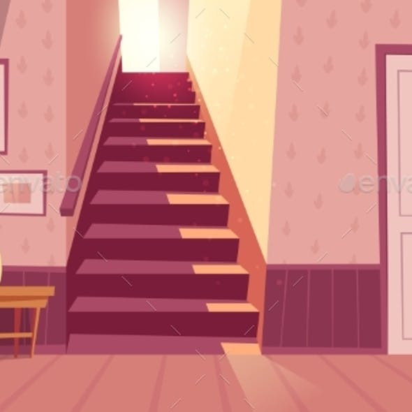 Vector Interior with Staircase