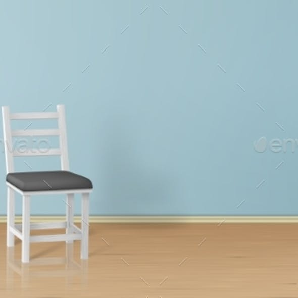 Vector Realistic Mock-Up with Chair Background