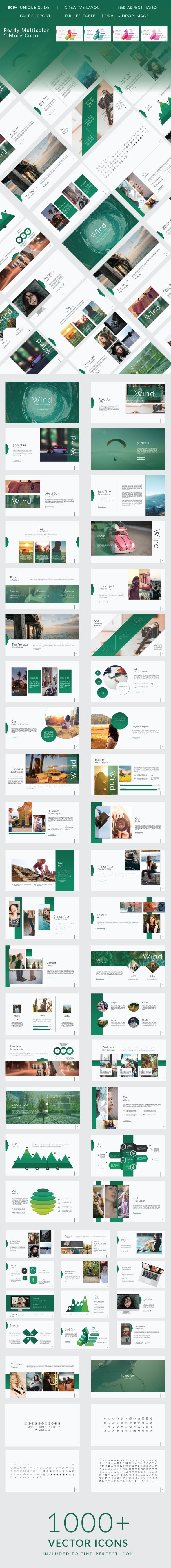 Wind Creative Google Slide - Business PowerPoint Templates