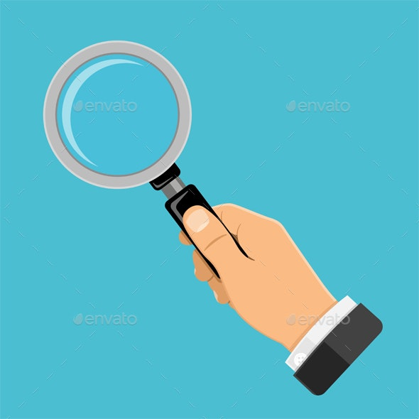 Magnifying Glass in Hand - Miscellaneous Vectors