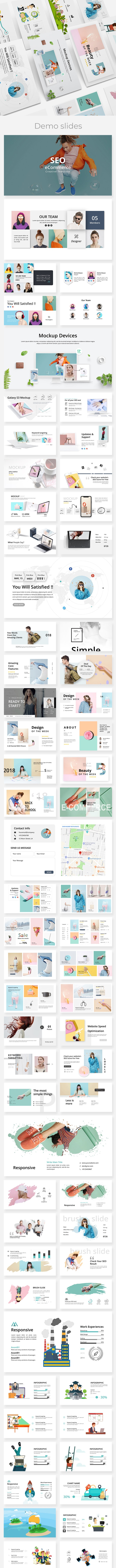 SEO eCommerce - Creative Powerpoint Template - Creative PowerPoint Templates
