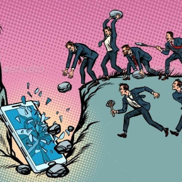 Savages Businessmen Kill a Smartphone