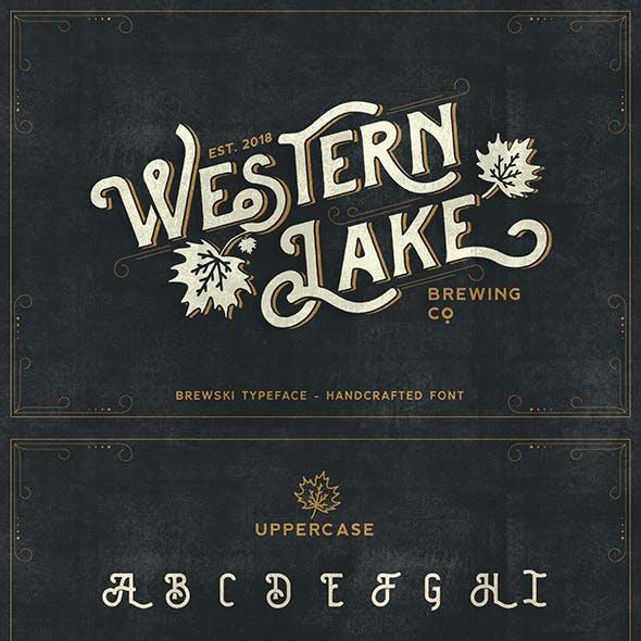 Brewski Brewery Vintage Typeface