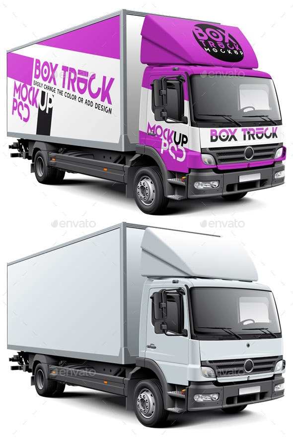 Box Truck Mockup - Vehicle Wraps Print