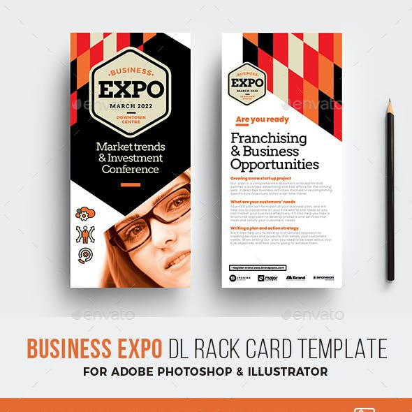 Business Expo Rack Card Template