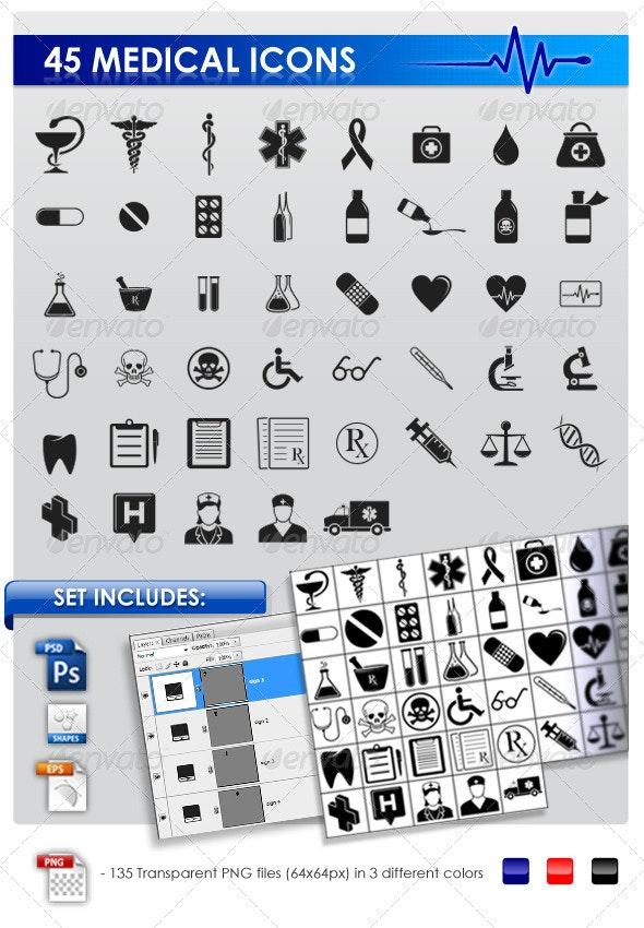 45 Medical icons - Web Icons