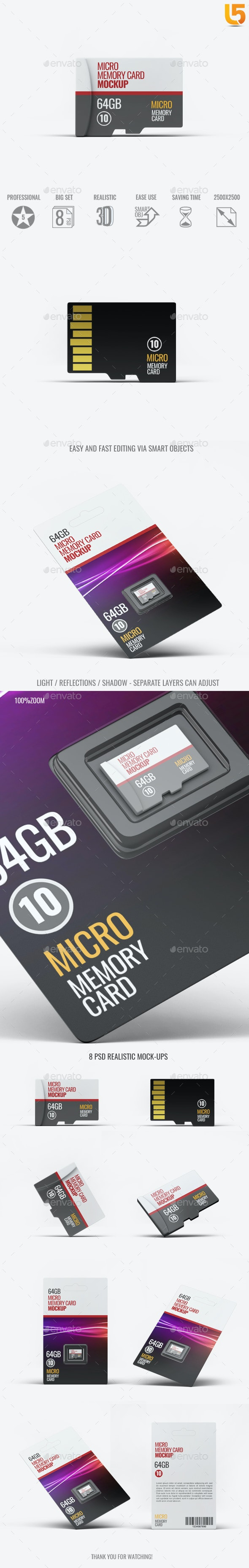Micro Memory Card Mock-Up - Miscellaneous Product Mock-Ups