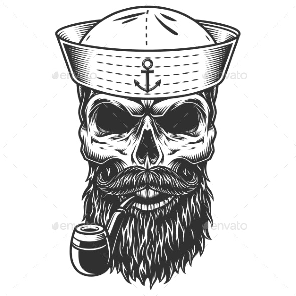 Skull with the Beard and Pipe - Miscellaneous Characters