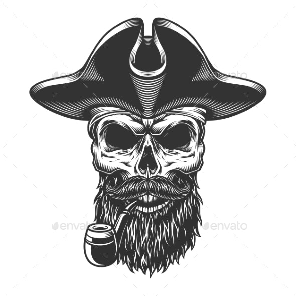 Skull with Pipe - Miscellaneous Characters