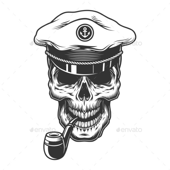 Skull with Pipe - Miscellaneous Vectors