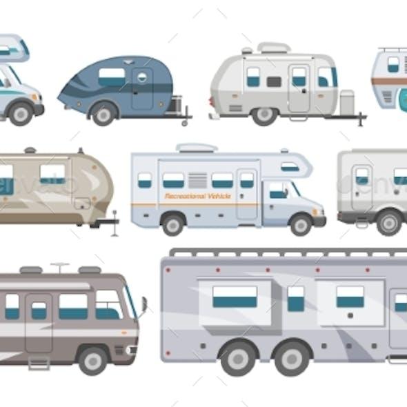 Caravan Vector RV Camping Trailer and Caravanning