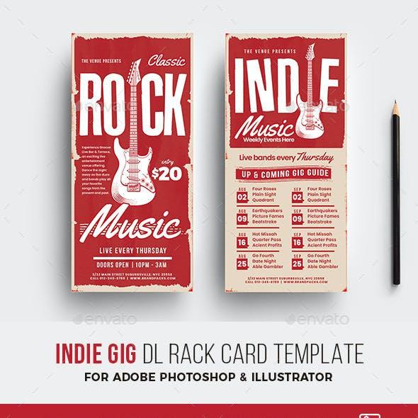 Indie Gig Rack Card